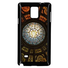 Black And Borwn Stained Glass Dome Roof Samsung Galaxy Note 4 Case (black) by Nexatart