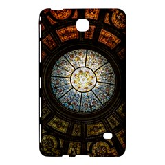 Black And Borwn Stained Glass Dome Roof Samsung Galaxy Tab 4 (7 ) Hardshell Case  by Nexatart