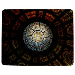 Black And Borwn Stained Glass Dome Roof Jigsaw Puzzle Photo Stand (rectangular) by Nexatart