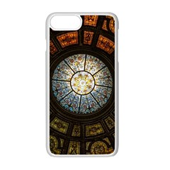 Black And Borwn Stained Glass Dome Roof Apple Iphone 7 Plus White Seamless Case by Nexatart