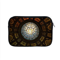 Black And Borwn Stained Glass Dome Roof Apple Macbook Pro 15  Zipper Case by Nexatart
