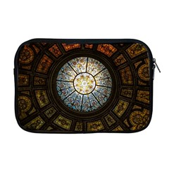 Black And Borwn Stained Glass Dome Roof Apple Macbook Pro 17  Zipper Case by Nexatart