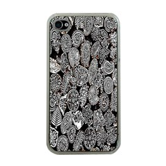 Black And White Art Pattern Historical Apple Iphone 4 Case (clear)