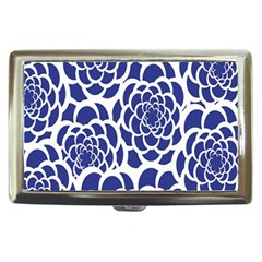 Blue And White Flower Background Cigarette Money Cases