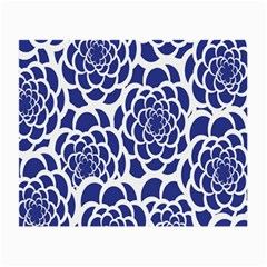 Blue And White Flower Background Small Glasses Cloth (2 Side)