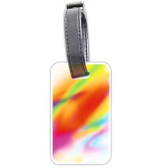 Blur Color Colorful Background Luggage Tags (one Side)