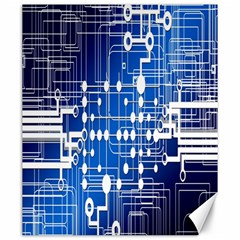 Board Circuits Trace Control Center Canvas 20  X 24   by Nexatart