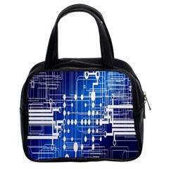 Board Circuits Trace Control Center Classic Handbags (2 Sides) by Nexatart