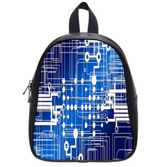 Board Circuits Trace Control Center School Bags (small)  by Nexatart