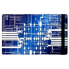 Board Circuits Trace Control Center Apple Ipad 2 Flip Case by Nexatart