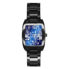 Board Circuits Trace Control Center Stainless Steel Barrel Watch by Nexatart