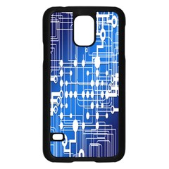 Board Circuits Trace Control Center Samsung Galaxy S5 Case (black) by Nexatart