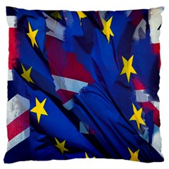 Brexit Referendum Uk Large Cushion Case (two Sides)