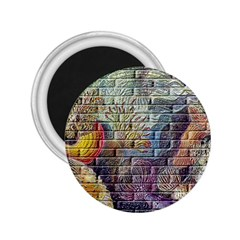 Brick Of Walls With Color Patterns 2 25  Magnets by Nexatart