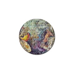 Brick Of Walls With Color Patterns Golf Ball Marker (10 Pack) by Nexatart
