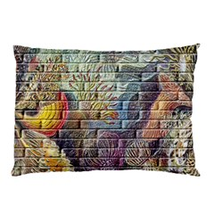 Brick Of Walls With Color Patterns Pillow Case by Nexatart
