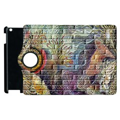 Brick Of Walls With Color Patterns Apple Ipad 2 Flip 360 Case by Nexatart