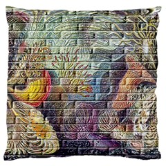 Brick Of Walls With Color Patterns Standard Flano Cushion Case (one Side) by Nexatart