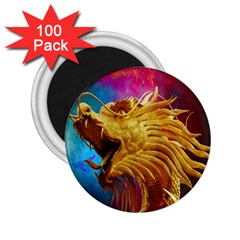 Broncefigur Golden Dragon 2 25  Magnets (100 Pack)
