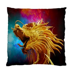 Broncefigur Golden Dragon Standard Cushion Case (two Sides) by Nexatart
