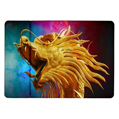 Broncefigur Golden Dragon Samsung Galaxy Tab 10 1  P7500 Flip Case by Nexatart