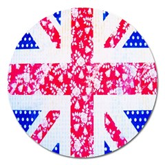 British Flag Abstract Magnet 5  (round)