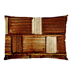 Brown Wall Tile Design Texture Pattern Pillow Case