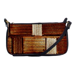 Brown Wall Tile Design Texture Pattern Shoulder Clutch Bags by Nexatart