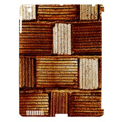 Brown Wall Tile Design Texture Pattern Apple Ipad 3/4 Hardshell Case (compatible With Smart Cover)