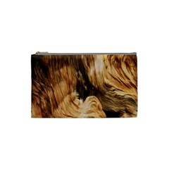 Brown Beige Abstract Painting Cosmetic Bag (small)  by Nexatart