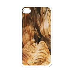 Brown Beige Abstract Painting Apple Iphone 4 Case (white) by Nexatart