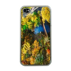 Bridge River Forest Trees Autumn Apple Iphone 4 Case (clear) by Nexatart