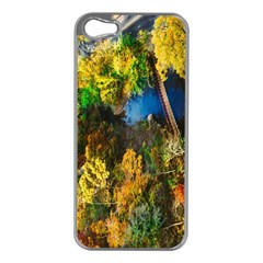 Bridge River Forest Trees Autumn Apple Iphone 5 Case (silver) by Nexatart