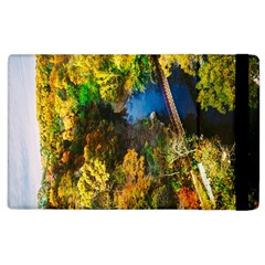 Bridge River Forest Trees Autumn Apple Ipad 2 Flip Case