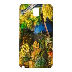 Bridge River Forest Trees Autumn Samsung Galaxy Note 3 N9005 Hardshell Back Case by Nexatart
