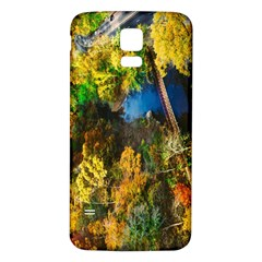 Bridge River Forest Trees Autumn Samsung Galaxy S5 Back Case (white) by Nexatart