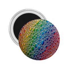 Bubbles Rainbow Colourful Colors 2 25  Magnets by Nexatart