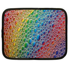 Bubbles Rainbow Colourful Colors Netbook Case (large) by Nexatart