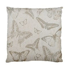 Butterfly Background Vintage Standard Cushion Case (one Side)