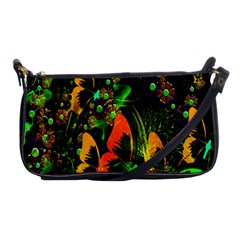 Butterfly Abstract Flowers Shoulder Clutch Bags by Nexatart