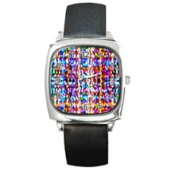 Bokeh Abstract Background Blur Square Metal Watch by Nexatart