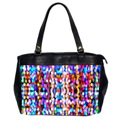Bokeh Abstract Background Blur Office Handbags (2 Sides)