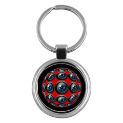 Camera Monitoring Security Key Chains (round)