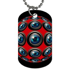 Camera Monitoring Security Dog Tag (two Sides)