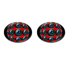 Camera Monitoring Security Cufflinks (oval)