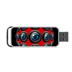 Camera Monitoring Security Portable Usb Flash (two Sides)