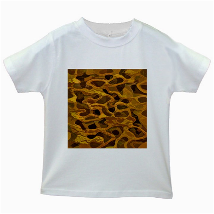Camo Kids White T-Shirts