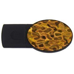 Camo Usb Flash Drive Oval (2 Gb) by Nexatart