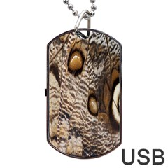 Butterfly Wing Detail Dog Tag Usb Flash (one Side)