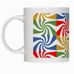 Candy Pattern  White Mugs